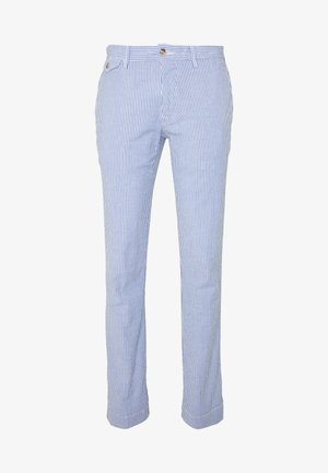 SLIM FIT BEDFORD PANT - Chinosy - blue/white