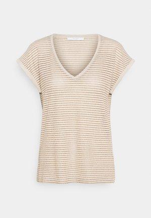 MILA STRIPE - Print T-shirt - sand