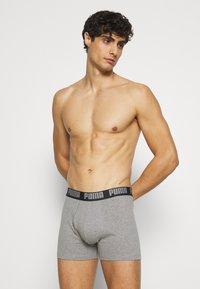 Puma - BASIC 4 PACK - Boxer shorts - white/grey melange - 3
