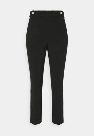 BUTTON PANT - Kalhoty - black