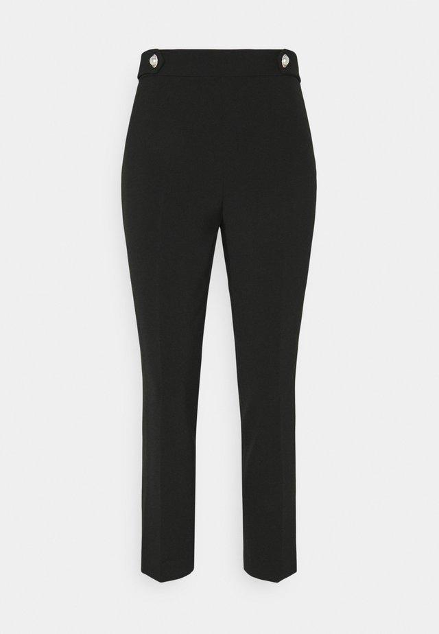BUTTON PANT - Trousers - black