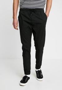 Solid - TRUC CUFF - Trousers - black - 0