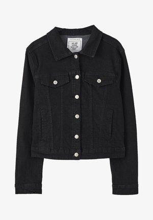 Denim jacket - metallic black