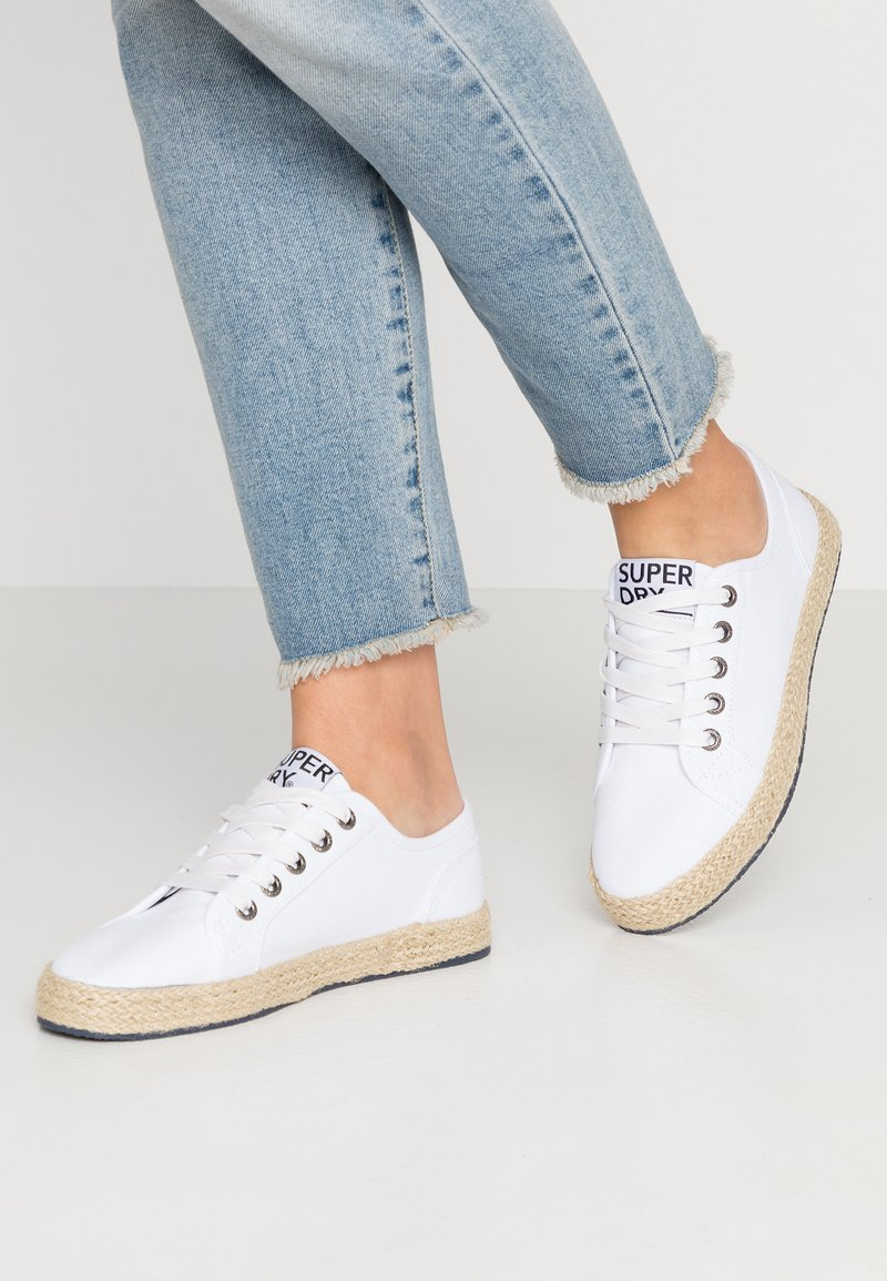 Superdry - LACE UP  - Espadrilles - white