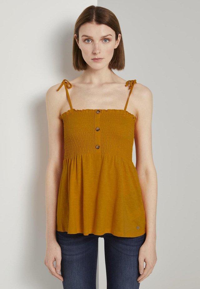 SMOCKED - Top - orange yellow