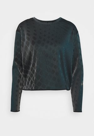 RUN DIVISION HOLOKNIT  - Sports shirt - black/green abyss