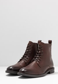 Zign - LEATHER - Lace-up ankle boots - brown - 2
