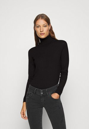 TURTLE NECK - Jumper - black