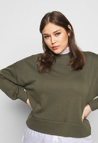 Noisy May Curve - NMHANNAH LONG PULLOVER CURVE - Neule - olive night - 3