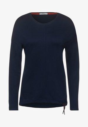 MIT LEICHTER STRUKTUR - Long sleeved top - blau