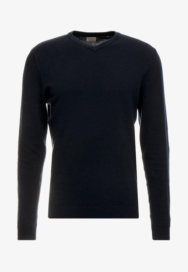 Jack & Jones JJEBASIC - Sweter - navy blazer/granatowy Odzież Męska XFLF