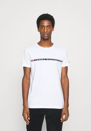 MINI STRIPE - T-shirt z nadrukiem - white
