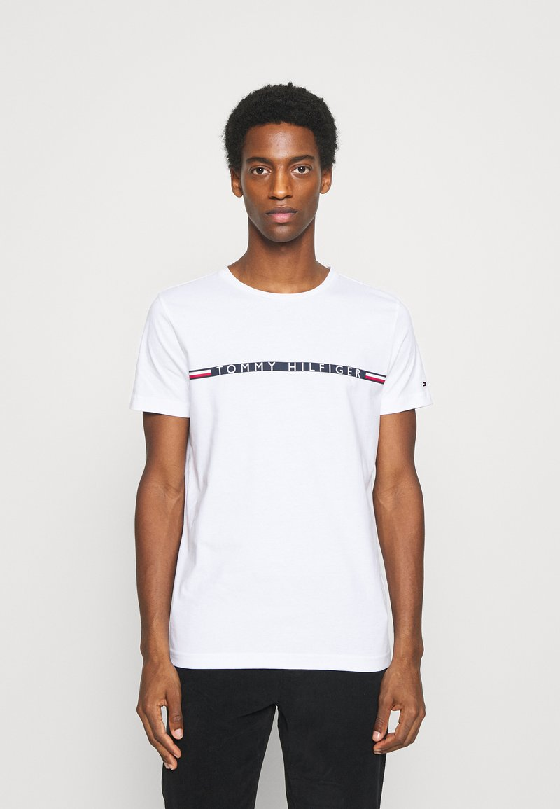 Tommy Hilfiger - MINI STRIPE - Print T-shirt - white