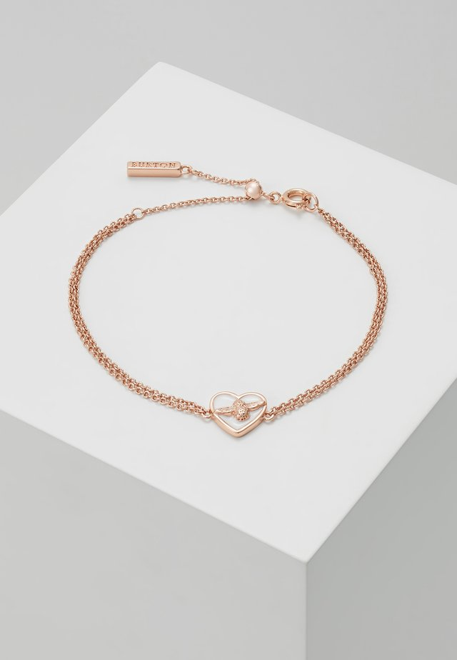 LOVE BUG CHAIN BRACELET - Armbånd - roségold-coloured