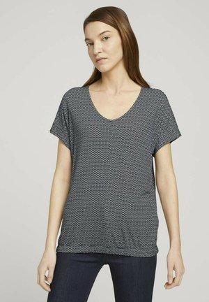 Print T-shirt - black white structure