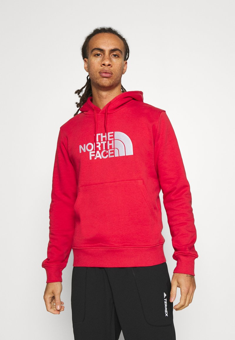The North Face - DREW PEAK HOODIE - Felpa con cappuccio - rococco red