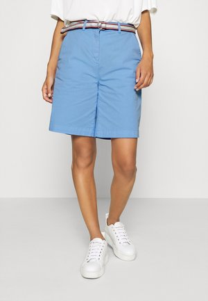 POPLIN HIGH WAIST - Shorts - light iris blue