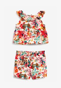 Next - PRINTED CO-ORD SET  - Shorts - pink - 0