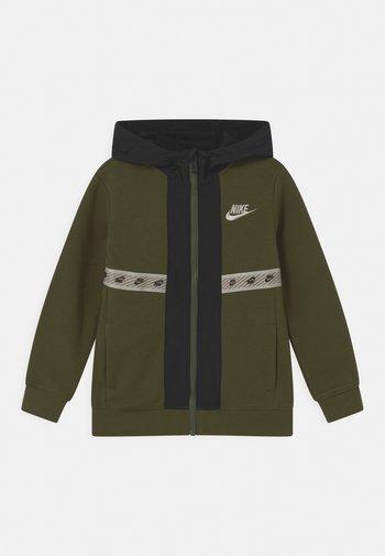 ELEVATED TRIMS FULL ZIP - Sweater met rits - rough green