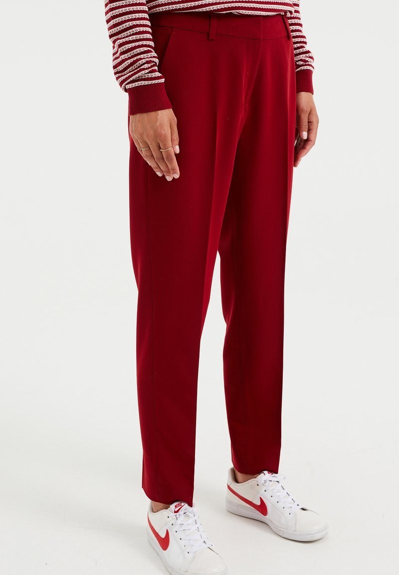 WE Fashion - Kangashousut - red