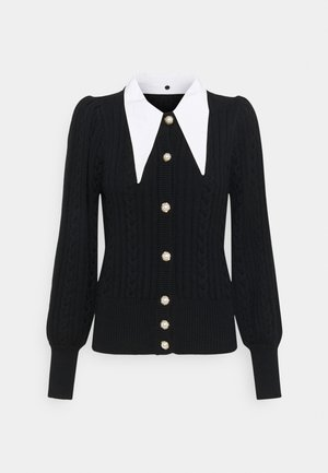 RAWANGZ COLLAR CARDIGAN - Vest - black