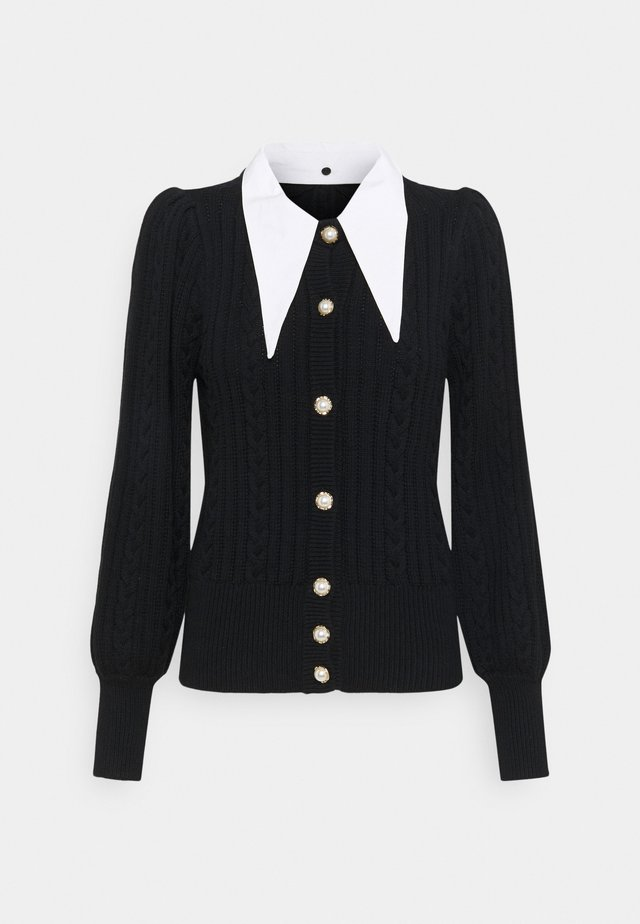 RAWANGZ COLLAR CARDIGAN - Kofta - black