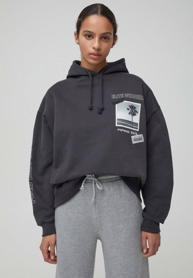 PULL&BEAR - Hoodie - dark grey