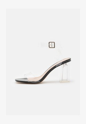 LEAH - Sandaler med høye hæler - clear/black
