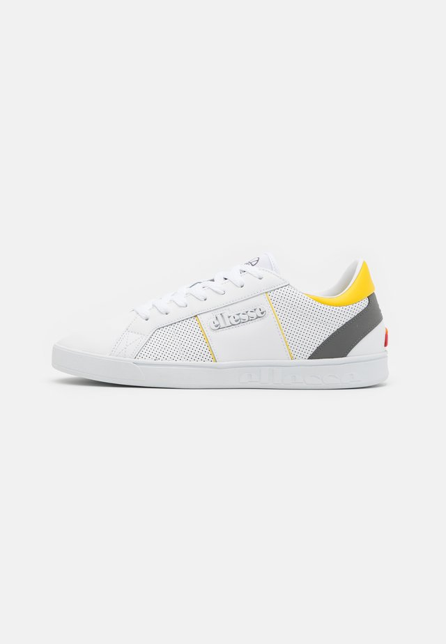 Sneakers laag - white/grey/yellow