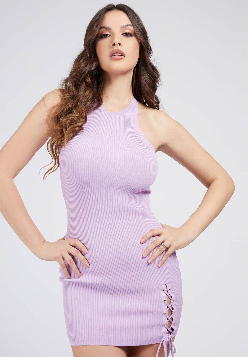 Guess - ALEXA TIE  - Shift dress - hellrose