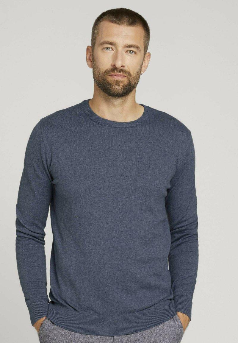 TOM TAILOR - Sweatshirt - vintage indigo blue melange