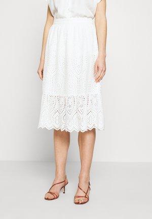 YASHOLI MIDI SKIRT - A-line skirt - star white