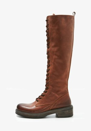 Lace-up boots - tan tan