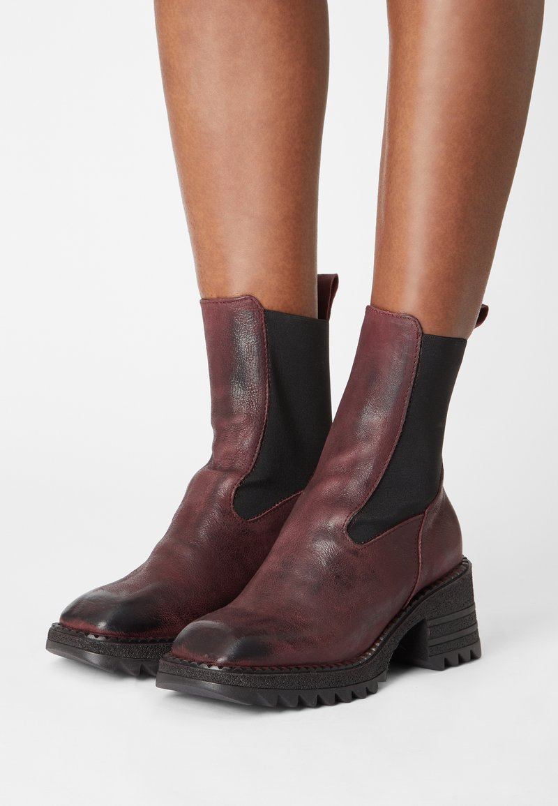 lilimill - MARS - Platform ankle boots - magenta