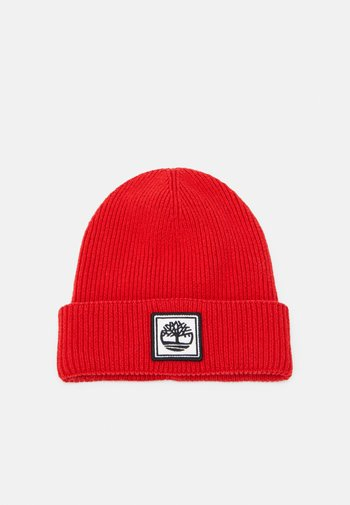 PULL ON UNISEX - Beanie - bright red