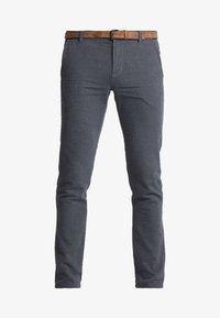 STRUCTURED - Chinos - black/grey
