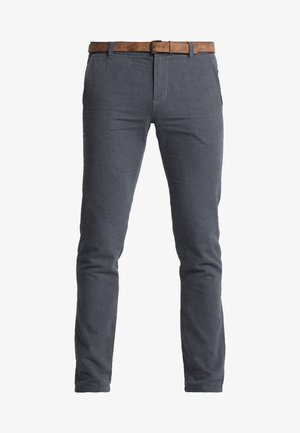 STRUCTURED - Chinos - black/grey