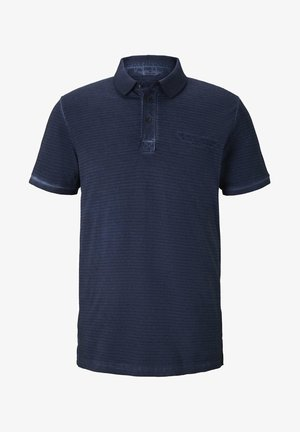 POLOSHIRTS GESTREIFTES POLOSHIRT MIT KLEINER STICKEREI - Polo shirt - black iris blue
