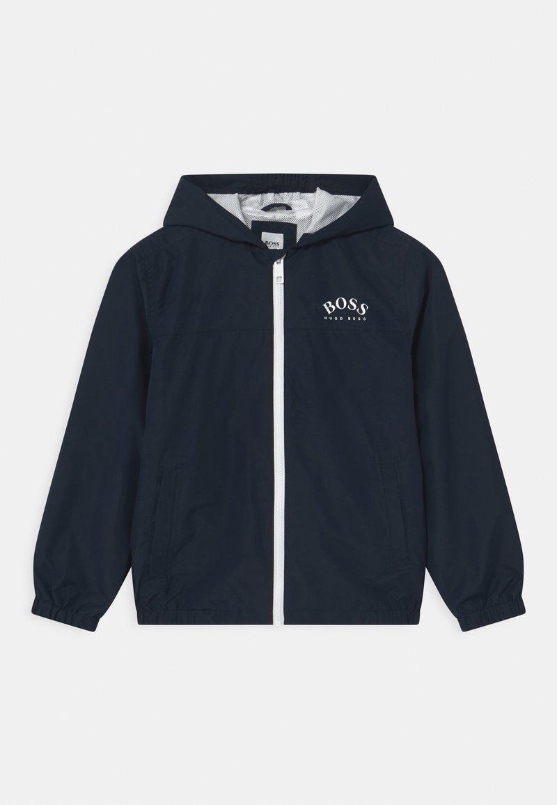 BOSS Kidswear - Vodotěsná bunda - navy