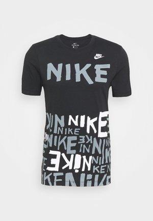 TEE - T-shirt imprimé - black/white