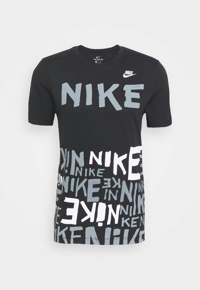 Nike Sportswear - TEE - Print T-shirt - black/white