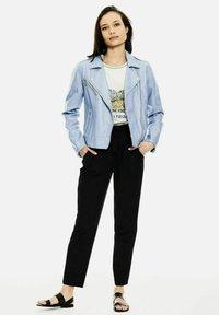Garcia - Faux leather jacket - powder blue - 1