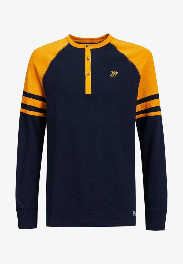 Long sleeved top - ochre yellow