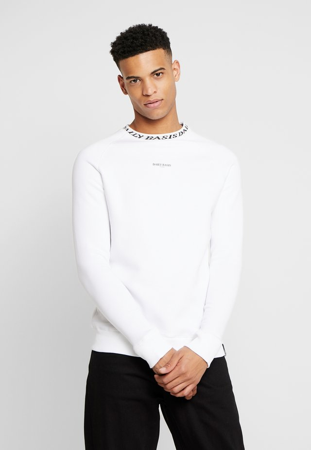 NECK CREW - Sweatshirt - white