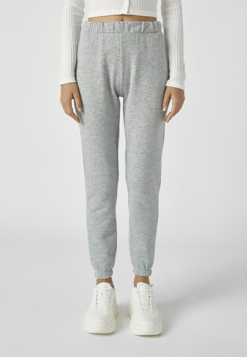PULL&BEAR - Tracksuit bottoms - light grey