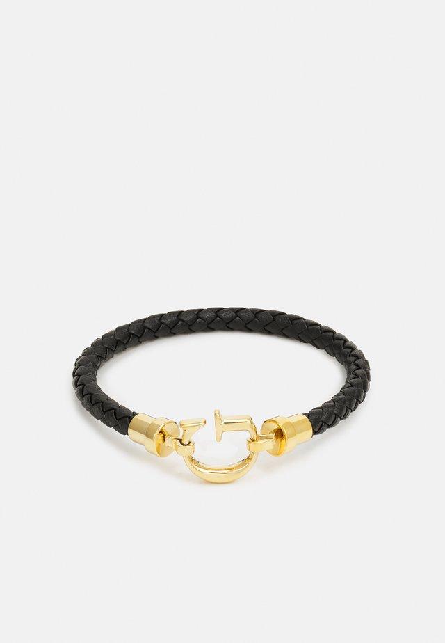 ROUND UNISEX - Náramek - black/gold-coloured