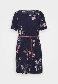 Vero Moda Petite - VMANNIE BELT SHORT DRESS - Day dress - night sky/hallie - 4