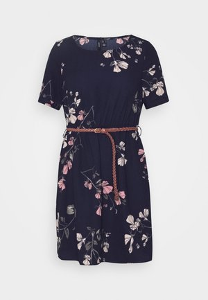 VMANNIE BELT SHORT DRESS - Day dress - night sky/hallie