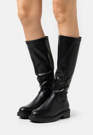 WIDE FIT BOUNCE CHUNKY STRETCH - Bottes - black
