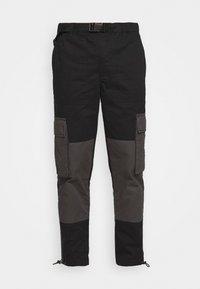Topman - BELTED CARGO - Cargo trousers - black - 4